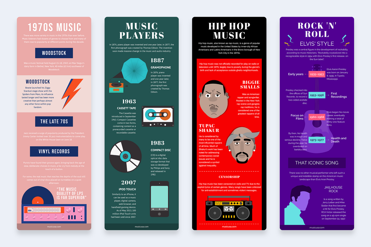Music Vertical Infographics