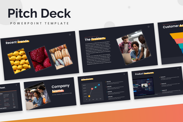 Pitch Deck Startup Powerpoint Templates
