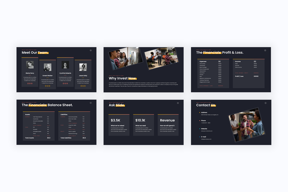 Pitch Deck Startup Keynote Template