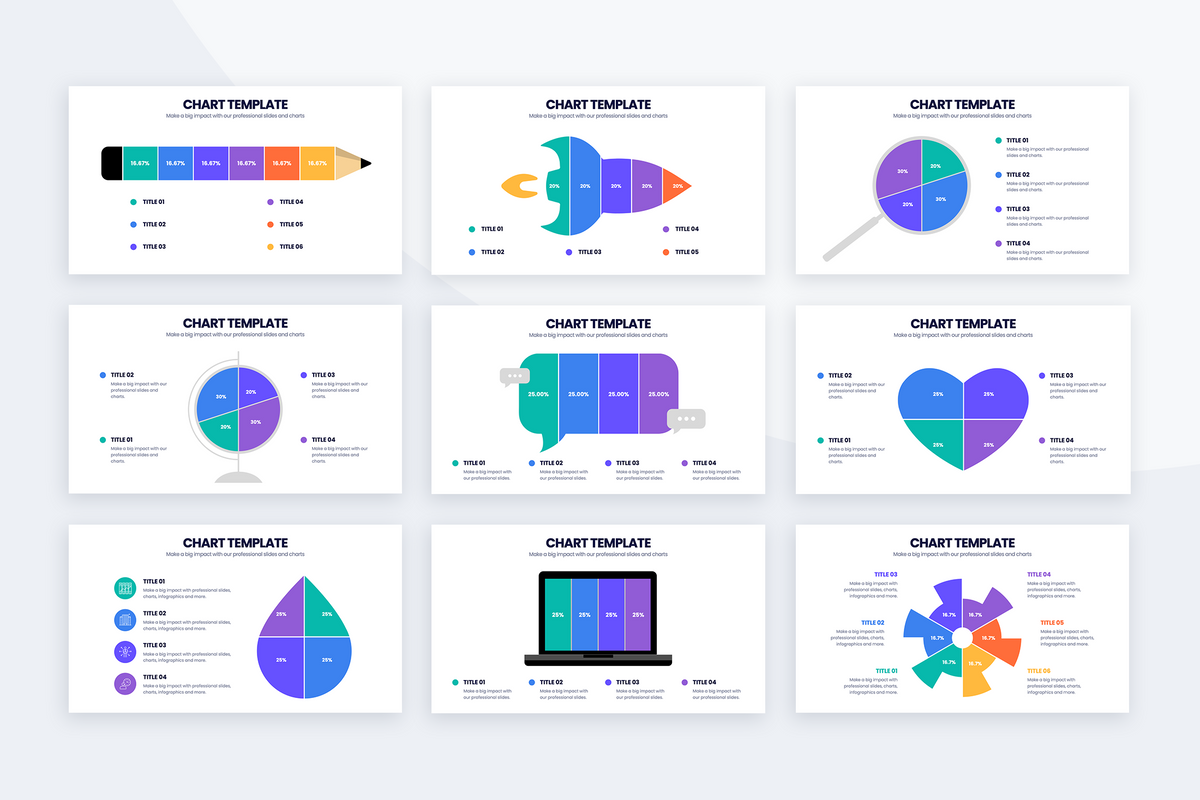 PowerPoint Charts and Graphs Bundle