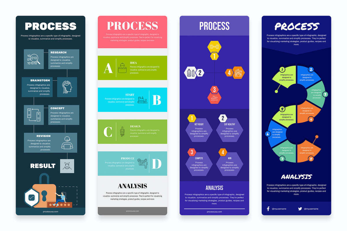 Process Vertical Infographics
