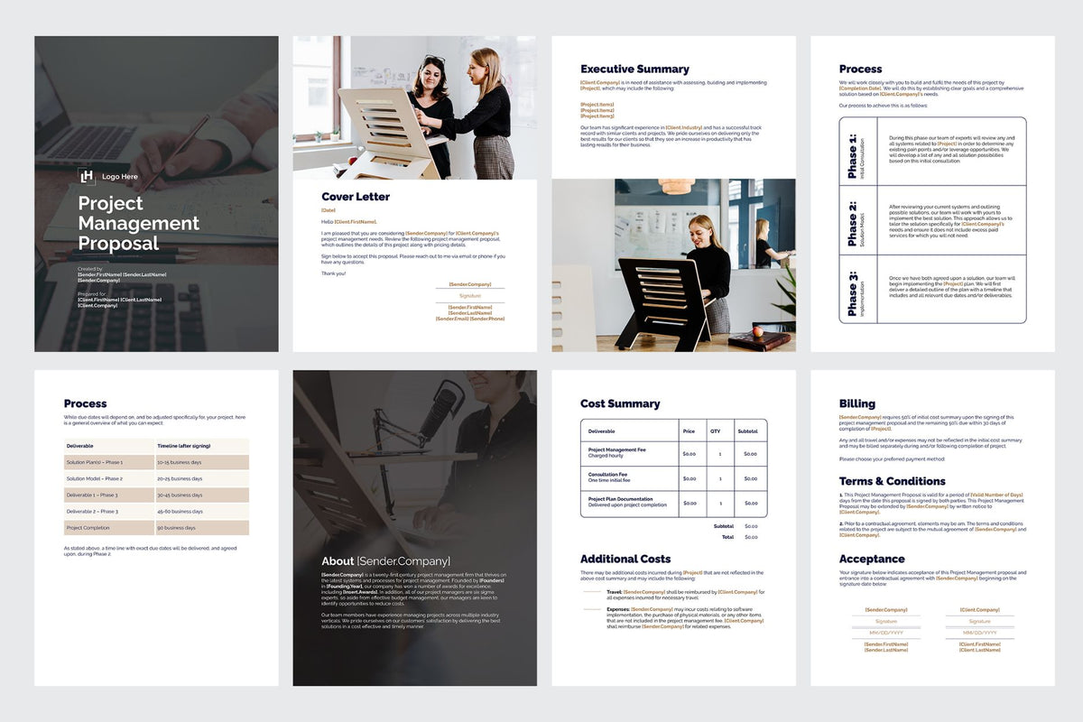Business Proposal Templates for CANVA & ILLUSTRATOR