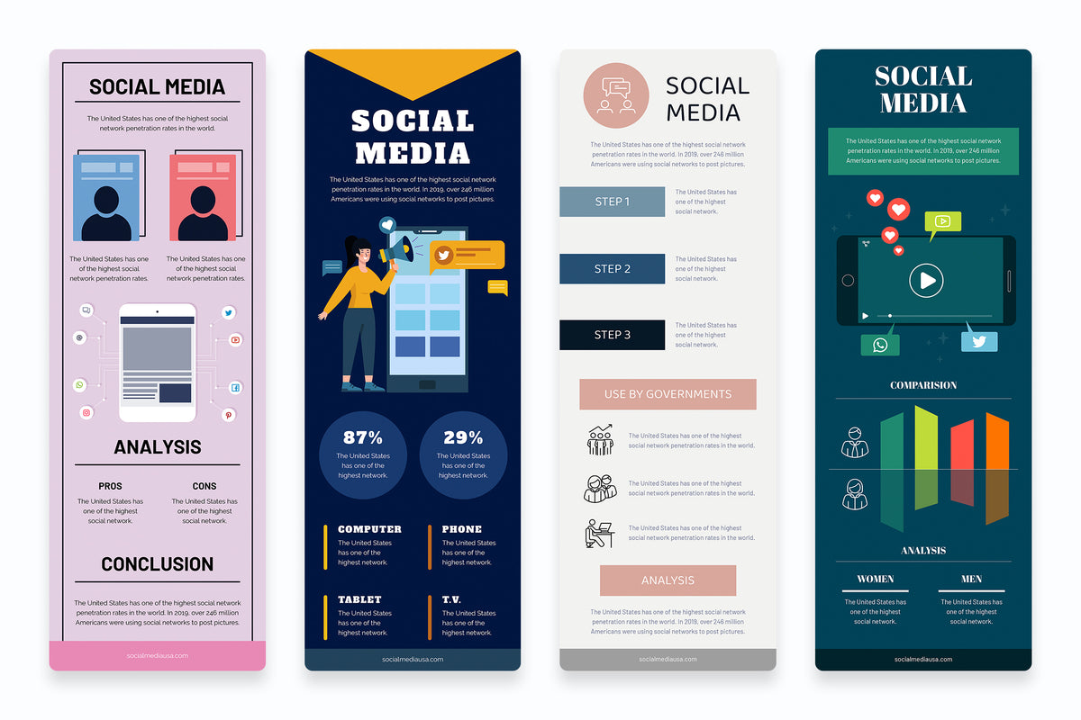 Social Media Vertical Infographics