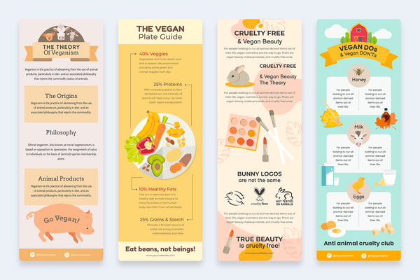Vegan Vertical Infographics