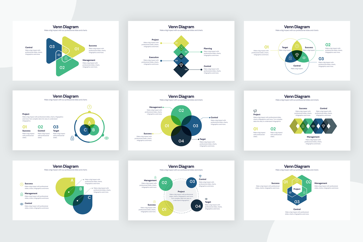 Venn Diagram Infographic Templates
