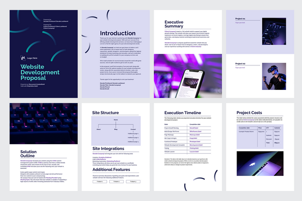 Website Development Proposal Template for CANVA & ILLUSTRATOR