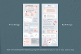 Valerie Infographic Wedding Program Template for CANVA & ILLUSTRATOR