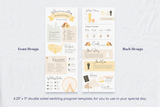 Veronica Infographic Wedding Program Template for CANVA & ILLUSTRATOR