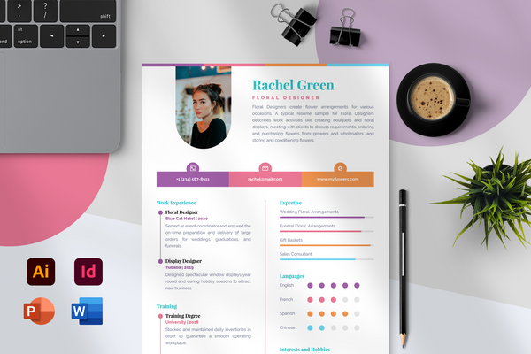 Zoe Resume Template + Cover Letter