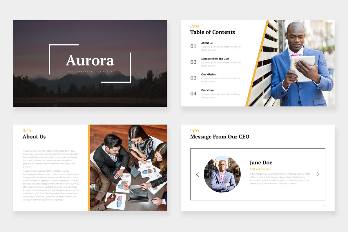 Aurora Google Slides Template