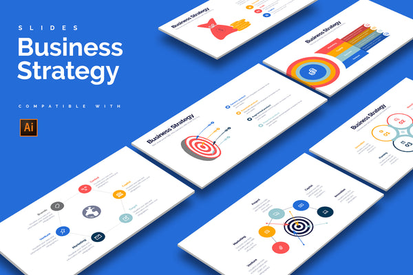 Business Strategy Illustrator Infographics