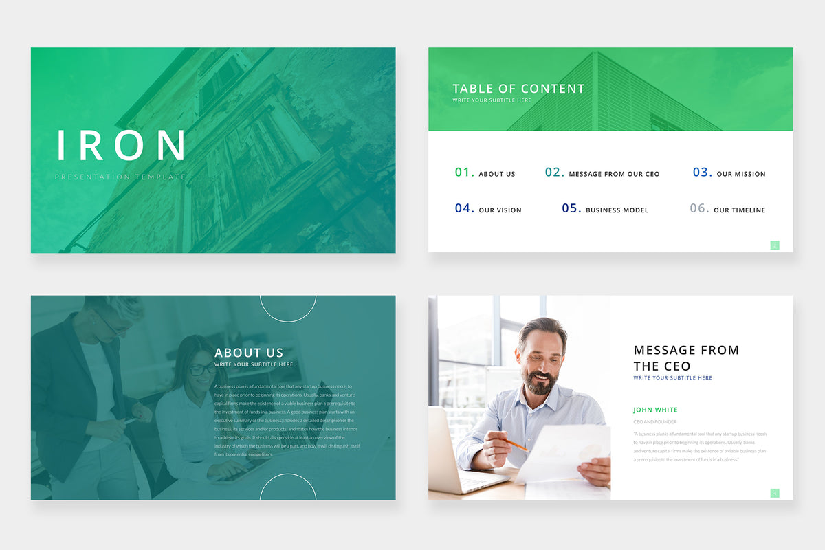 Iron PowerPoint Template