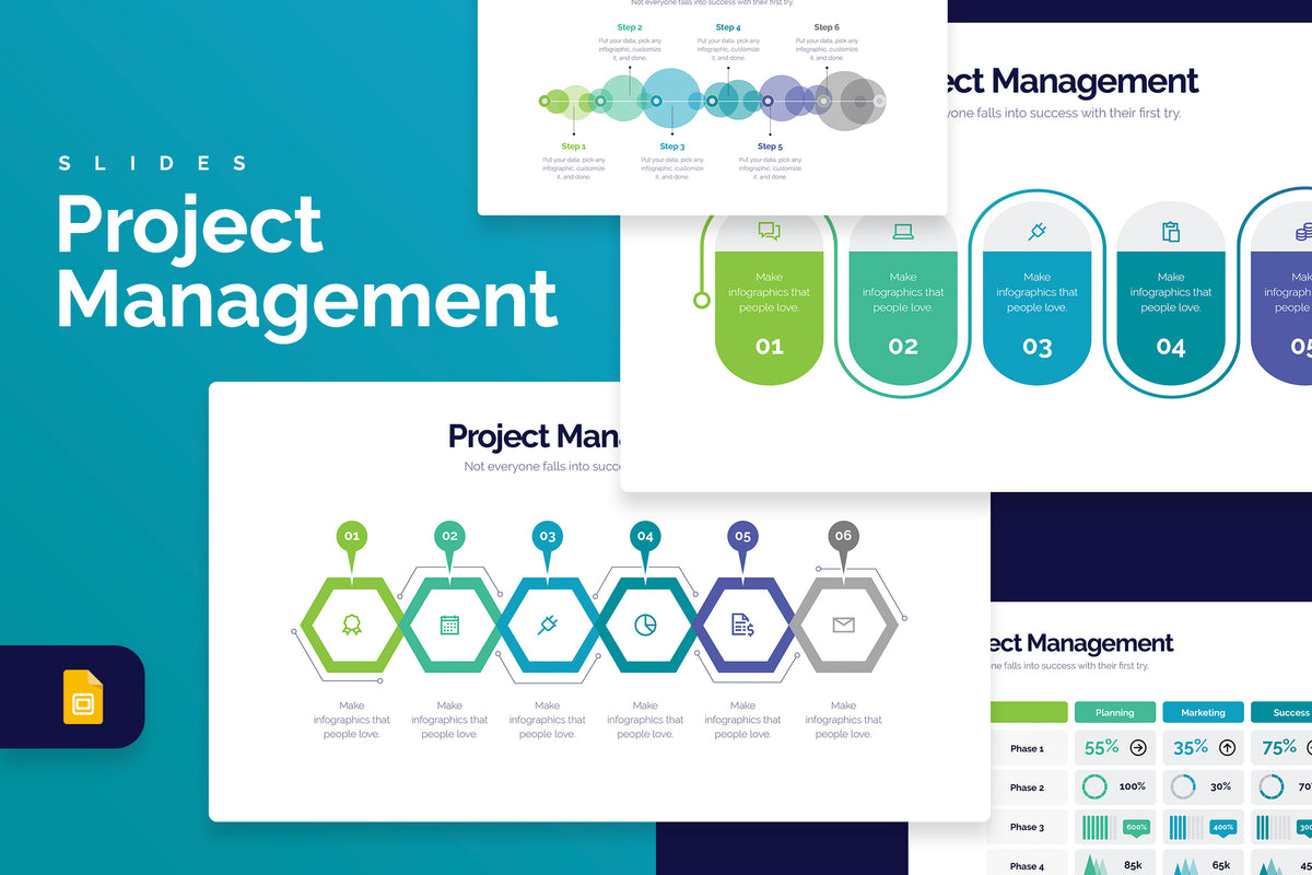 Project Management Google Slides Infographics
