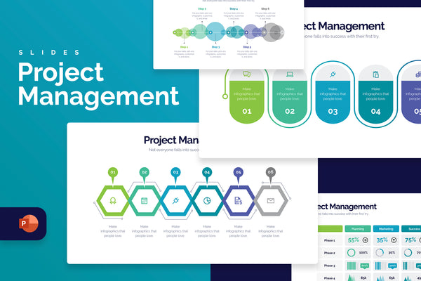 Project Management Powerpoint Infographics