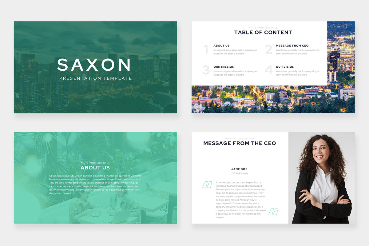 Saxon Keynote Template