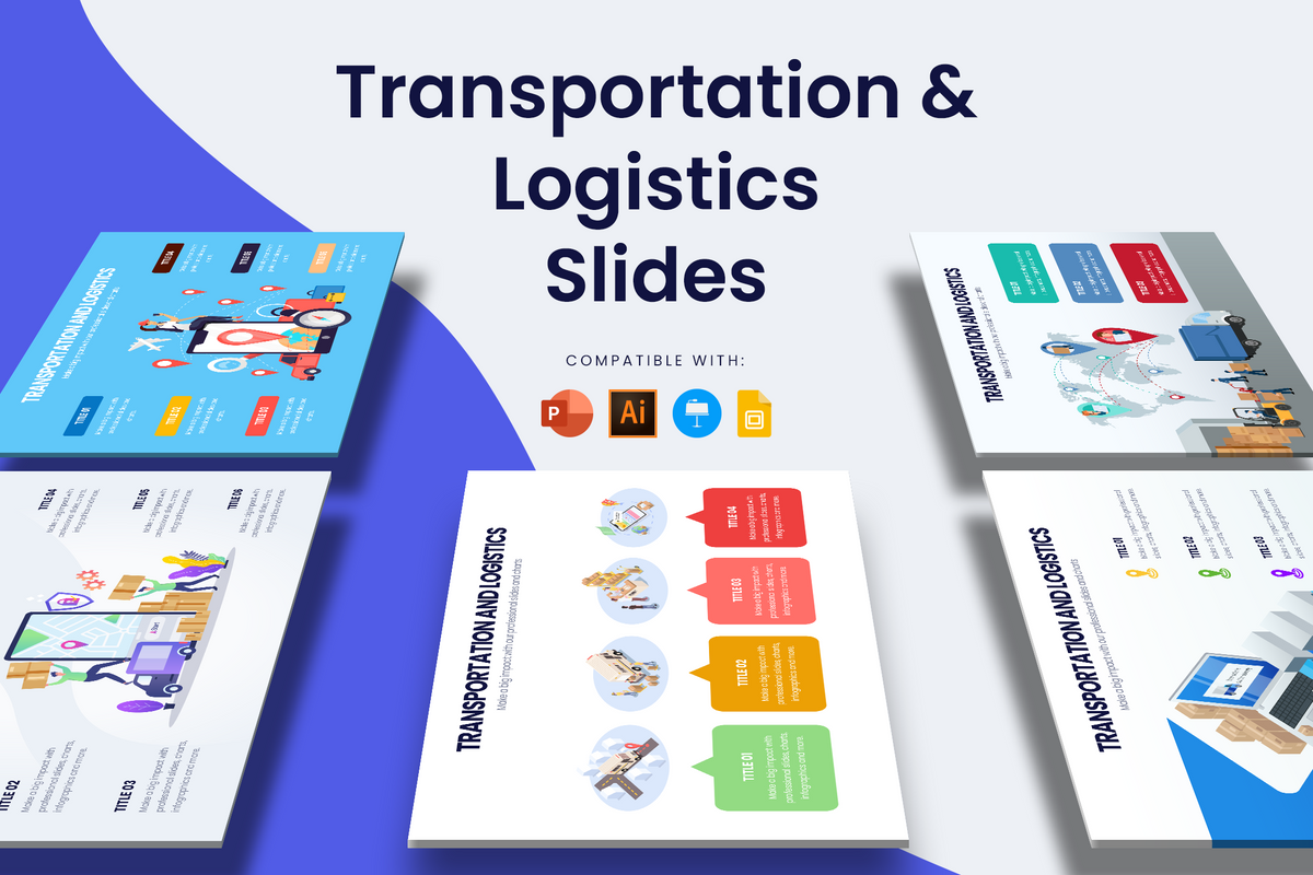 Transportation & Logistics Slide Infographic Templates