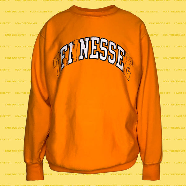 FINESSE college REsweatshirt Orange