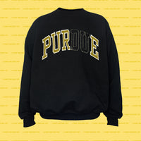 PURE college REsweatshirt (Black)