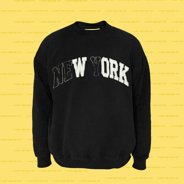 WORK college REsweatshirt (Black)