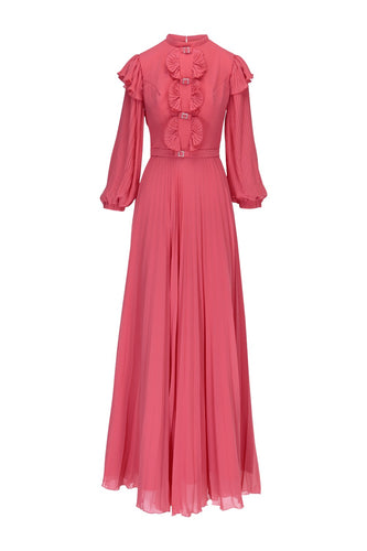 WOODSTOCK - Crepe Chiffon Maxi Dress