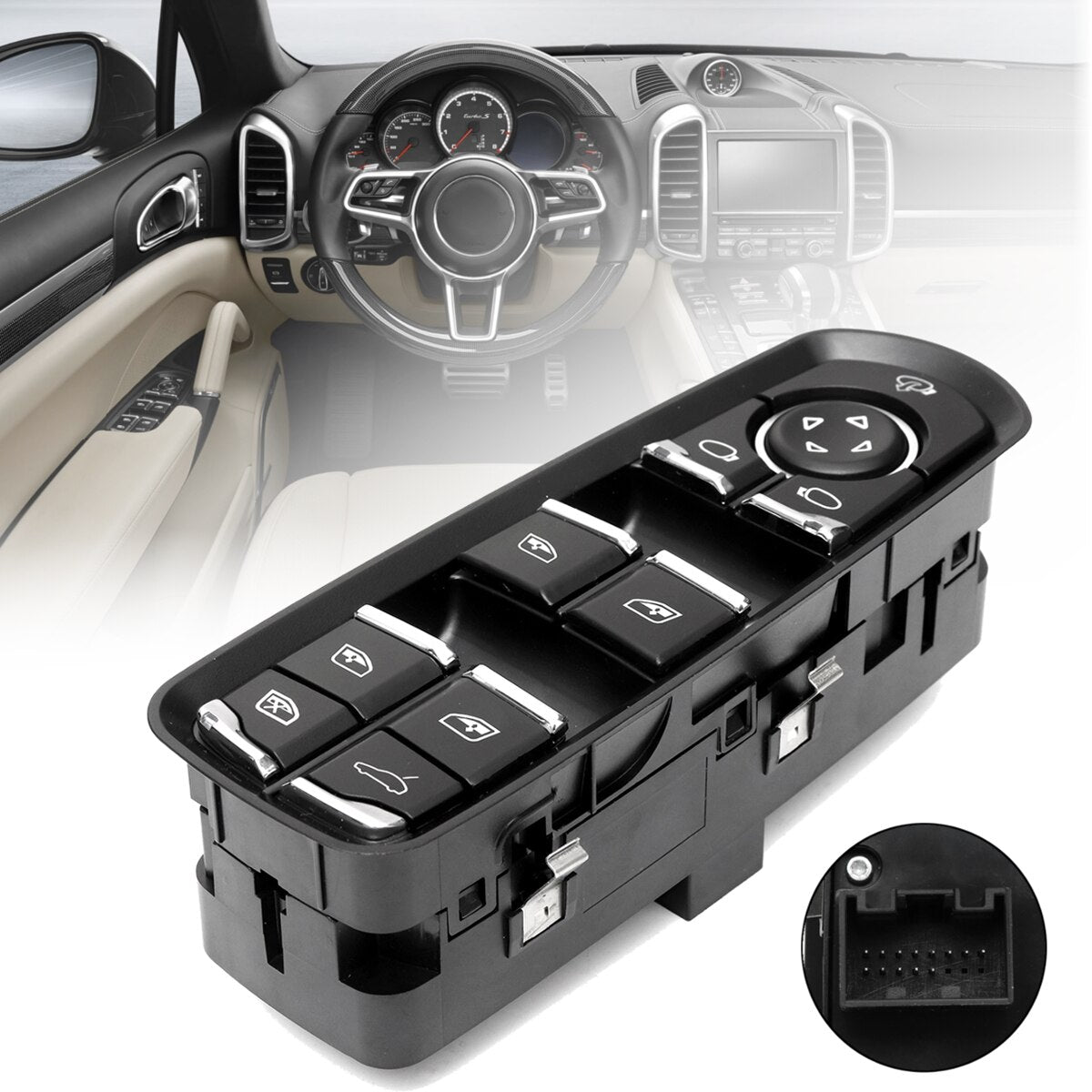 Electric Power Window Switch with Child Lock for Porsche