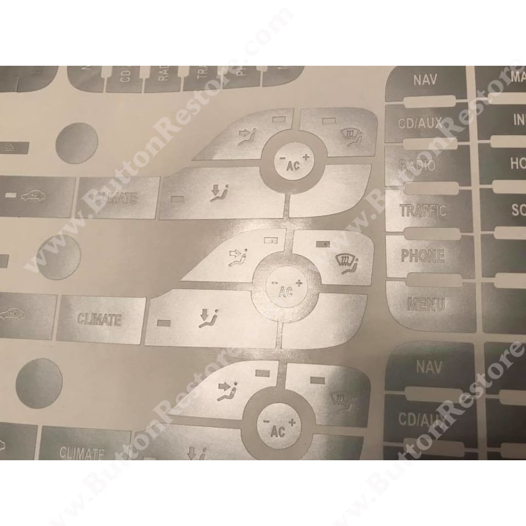 Ford Mondeo / Kuga / C-max Button Repair Set OF STICKERS - ButtonRestore