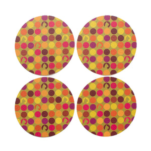 Hauspanther Round Coasters (set of 4)