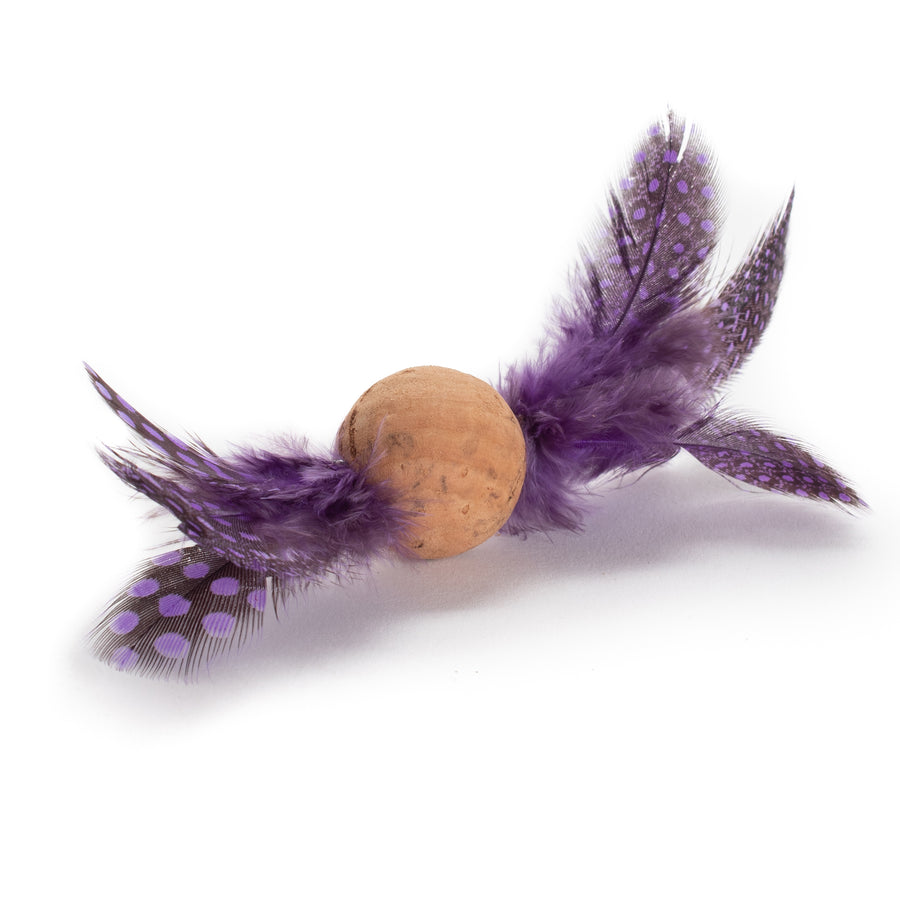 Feather Cork Ball Cat Toys