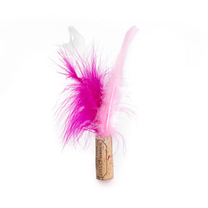 Recycled Wine Cork & Feather Cat Toys