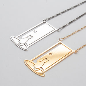 Cat at the Door Pendant from Cat Modern