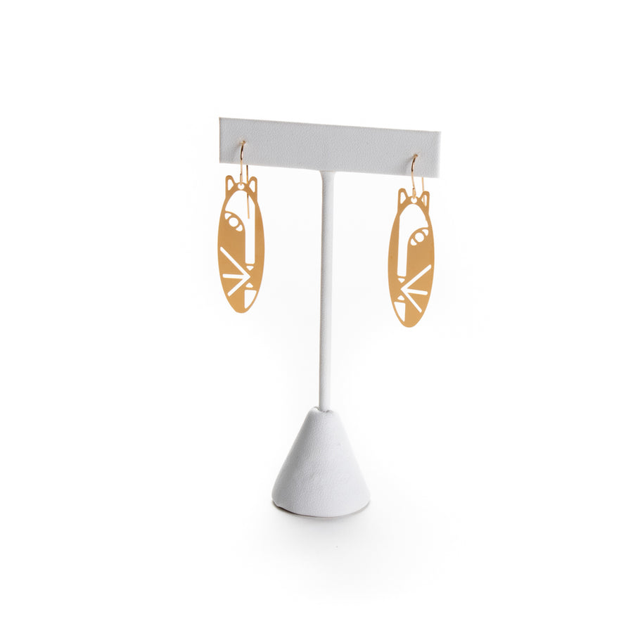 Masked Face Earrings from Cat Modern