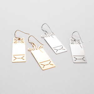Cat's in the Bag Earrings from Cat Modern