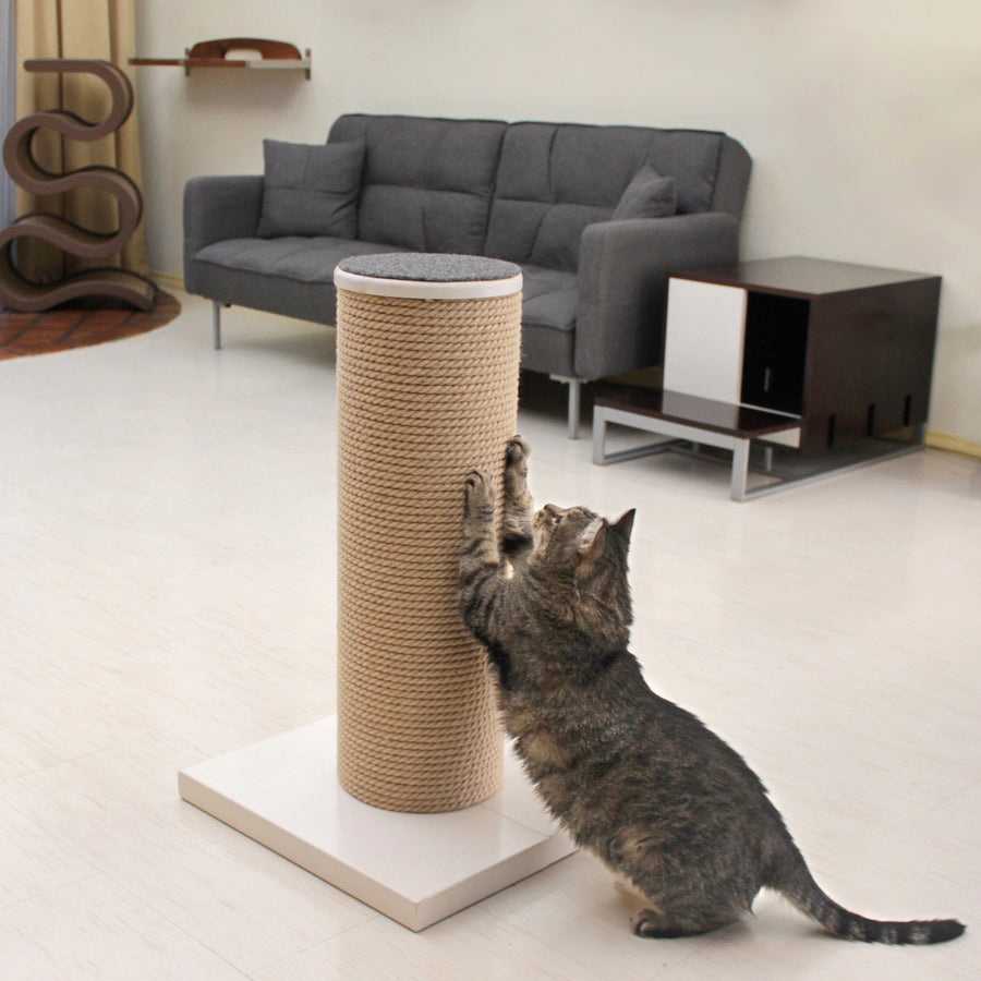 Hauspanther MaxScratch Oversized Cat Scratching Post & Perch by Primetime Petz