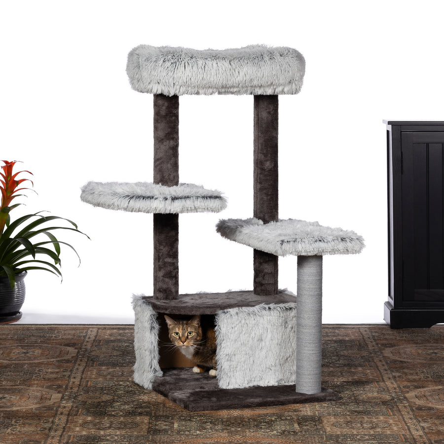 Frosty Lounge Cat Tower from Prevue Pet