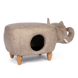 Elephant Cat Hideaway & Ottoman from Prevue Pet
