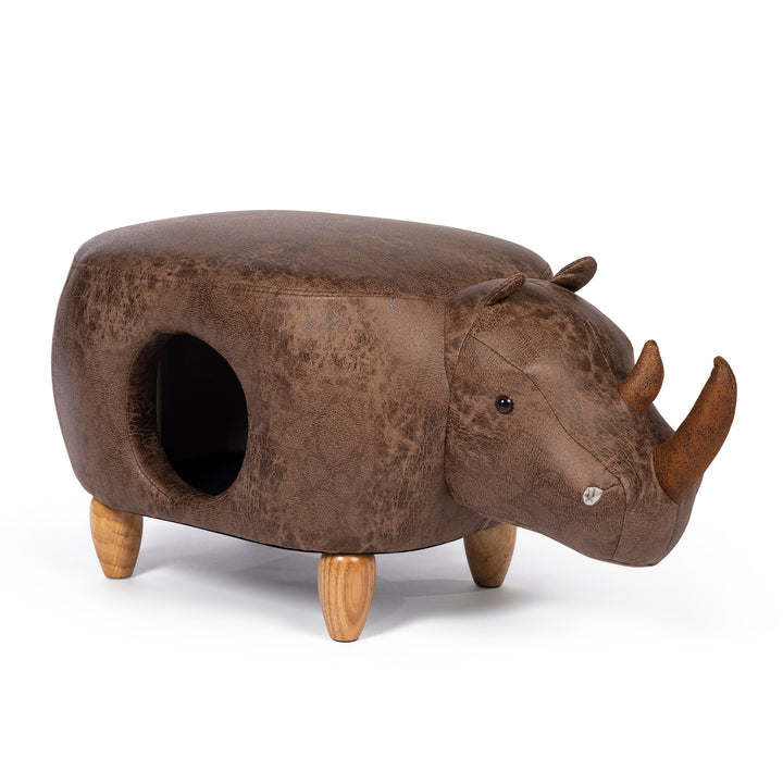 Rhinoceros Cat Hideaway & Ottoman from Prevue Pet