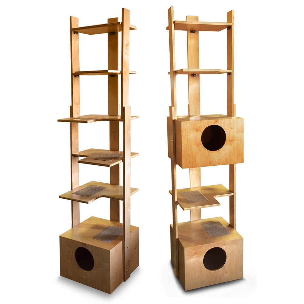 "86"" PurrfecTower Cat Tower from PurrfecTrends with Dual Box Option"