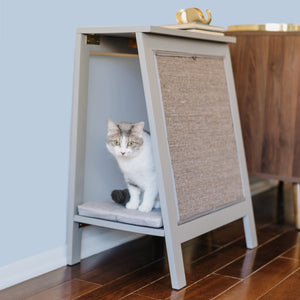 A-Frame Side Table, Cat Bed & Scratcher from The Refined Feline