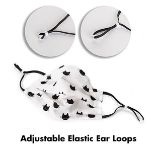 Handmade Fabric Face Masks with Adjustable Elastic Ear Loops