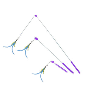 Jackson Galaxy Mojo Maker Air Prey Wand Cat Toy - NEW Vegan Feathers!