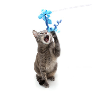 Ribbon Teaser Wand Cat Toys