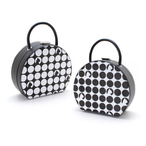 Hauspanther Black & White Hatbox Purse