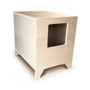 CURIO Modern Cat Litter Box :: Maple