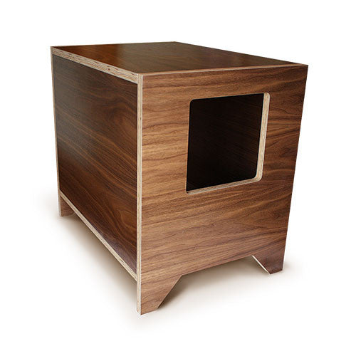 CURIO Modern Cat Litter Box :: Walnut