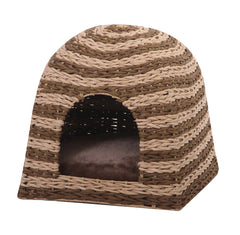 Banana Cabana Woven Hideaway Cat Bed from PetPals