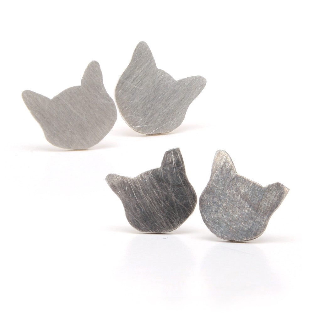 Kitty Cat Stud Earrings by Dara Paoletti - WITH EAR TIP OPTION!