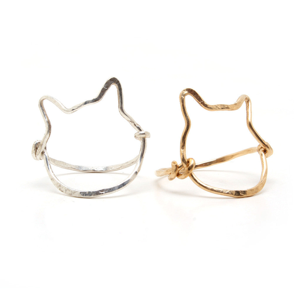 Wire Cat Rings by Mer•made Jewelry