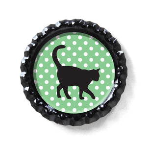 Cat Lover's Bottle Cap Rings & Magnets