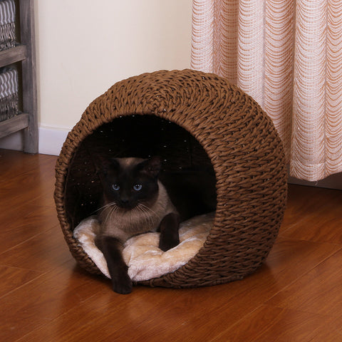 Cosmo Woven Hideaway Cat Bed from PetPals