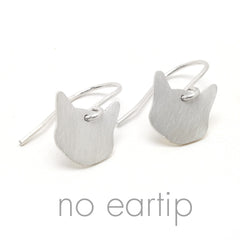 Kitty Cat Dangle Earrings by Dara Paoletti - WITH EAR TIP OPTION!